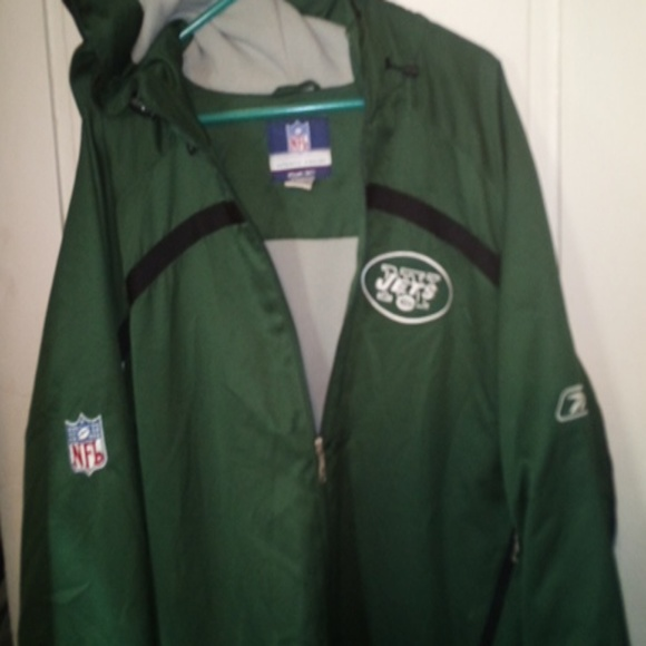 e81fa1bf N.Y. Jets Rebook Authentic Sidelines Jacket